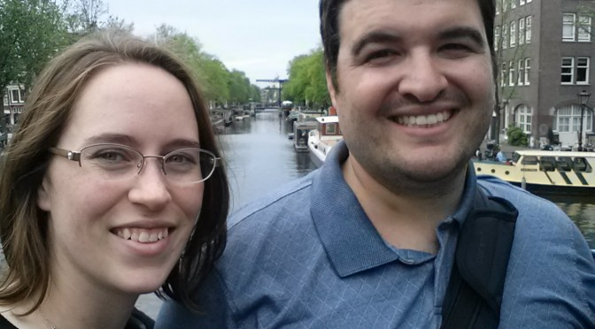 Sean and Jessica in Amsterdam