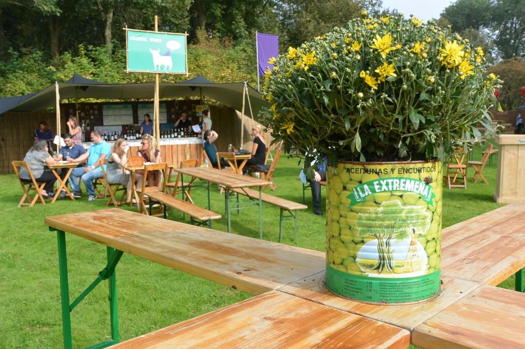Bacchus wine festival tables
