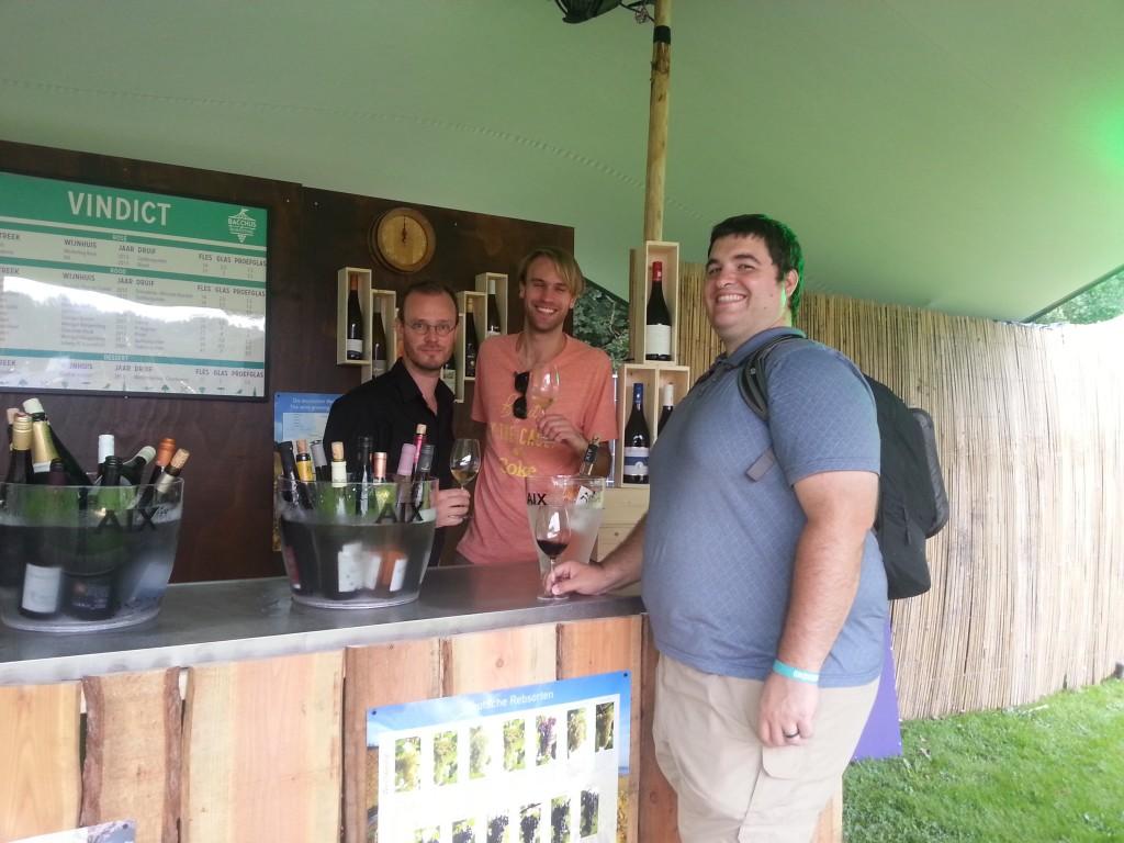 Bacchus wijnfestival booths