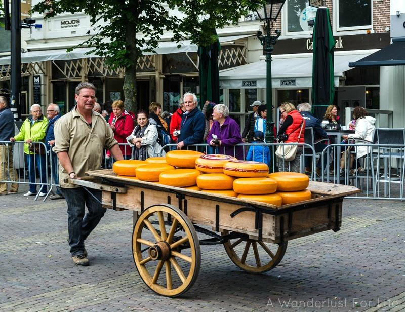 Cheese in Wheel Barrel