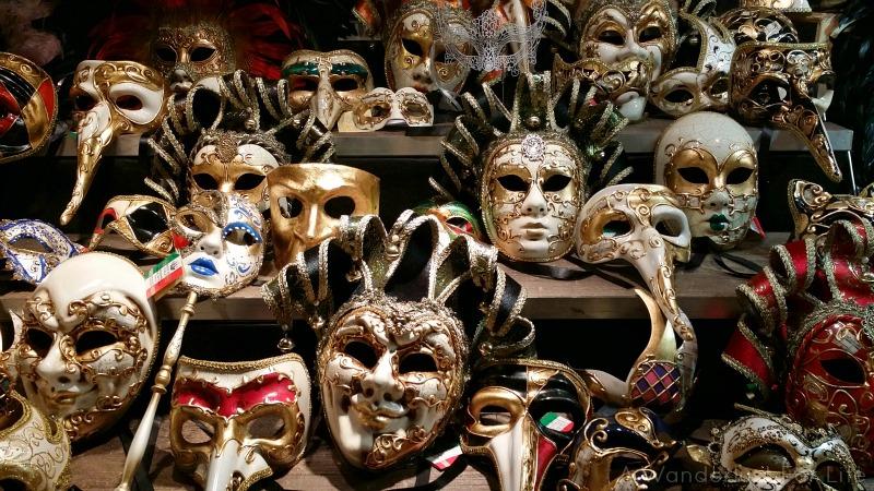 Masks at Amsterdam Christmas Market
