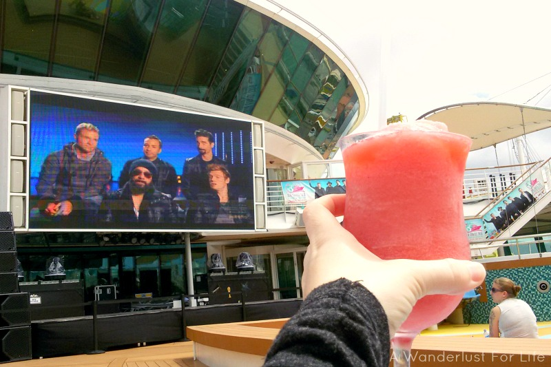 Relaxing on the Backstreet Boys Cruise 2016