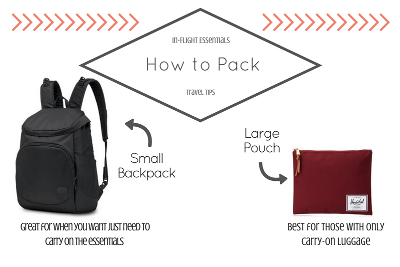 How to pack the in flight essentials