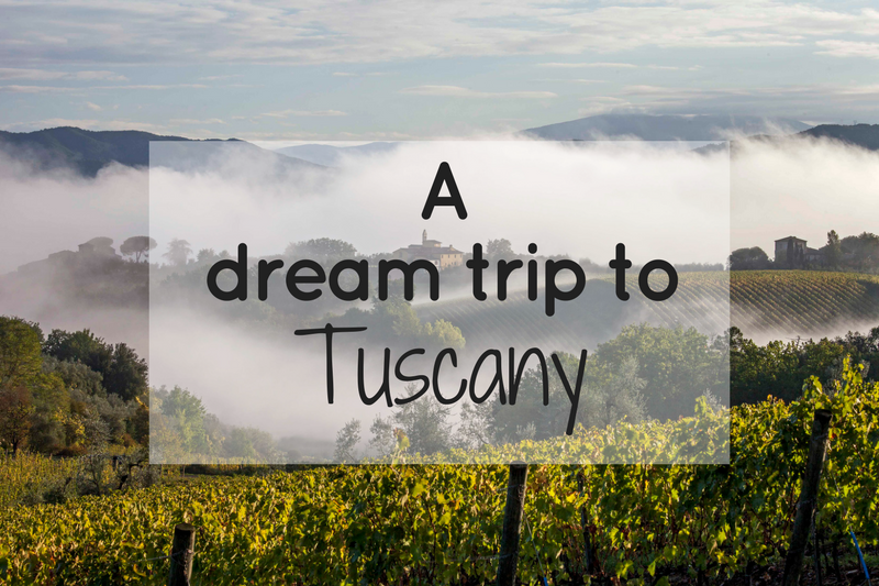 A dream trip to Tuscany for you!