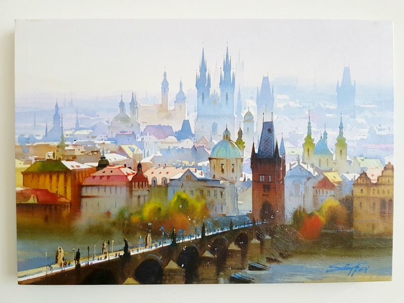 Painting of Prague from local artist - Great souvenir to bring back from traveling