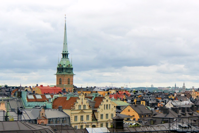 Great views of the Stockholm rooftops