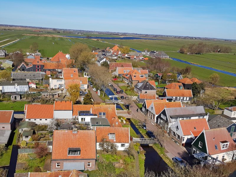 Above the Dutch countryside
