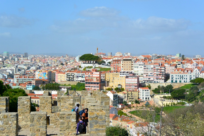 View from castle in Lisbon