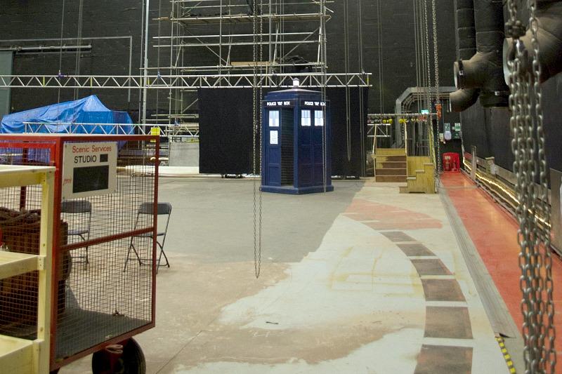 Far shot of TARDIS