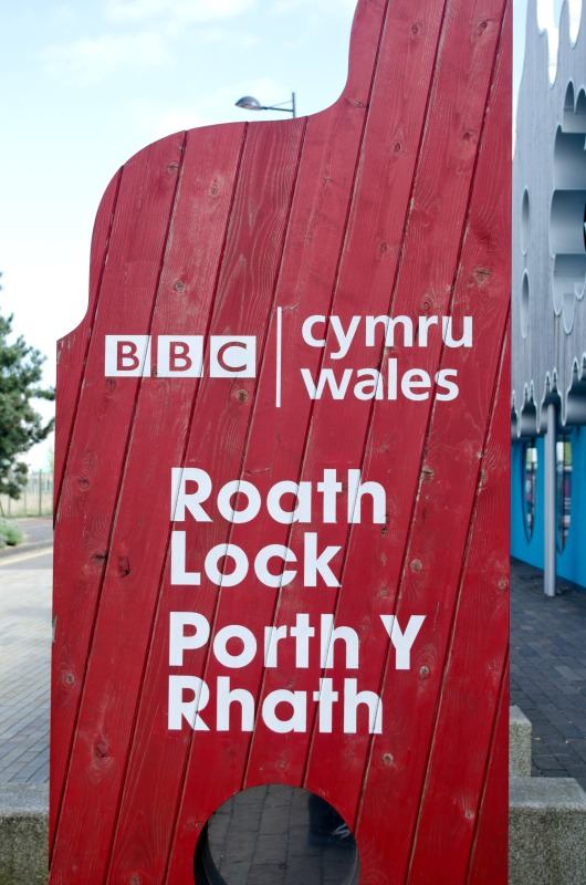 BBC Wales sign