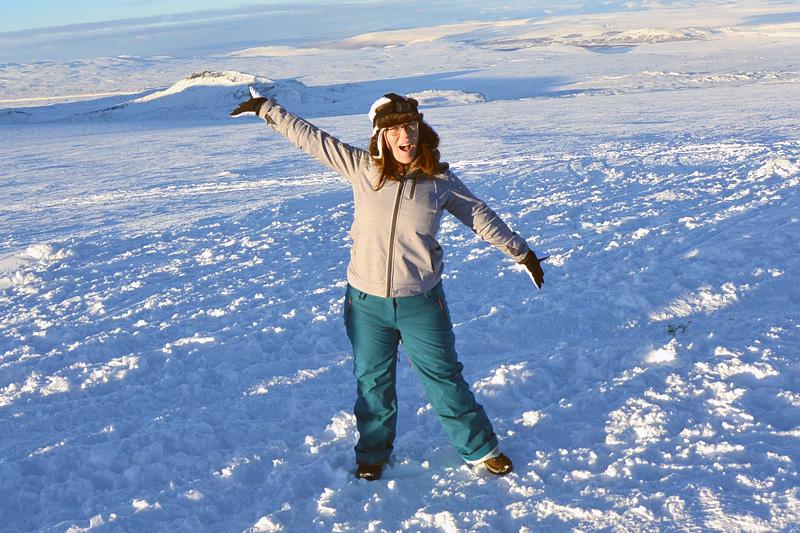Jessica on a glacier