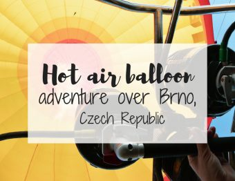 Epic hot air balloon ride in Brno