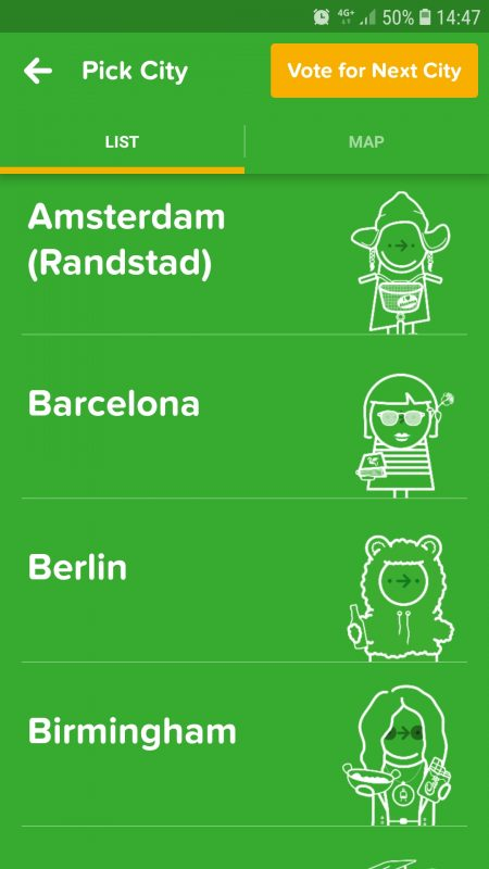 Citymapper cities - a great app for traveling around Europe!