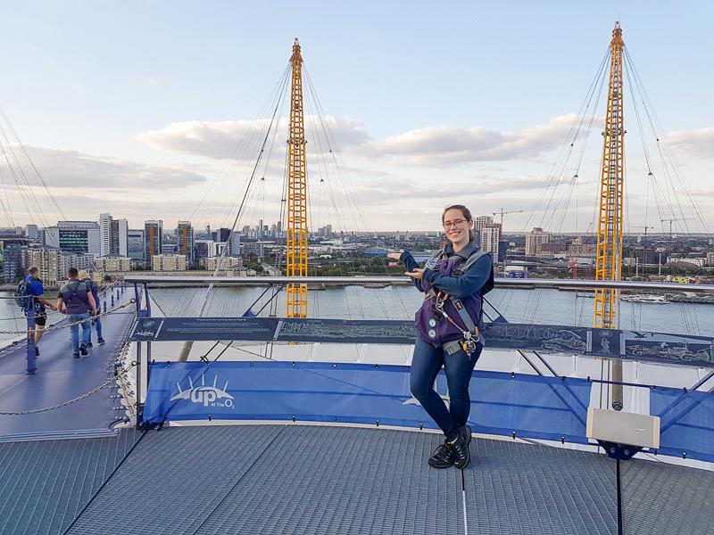Jessica with London skyline
