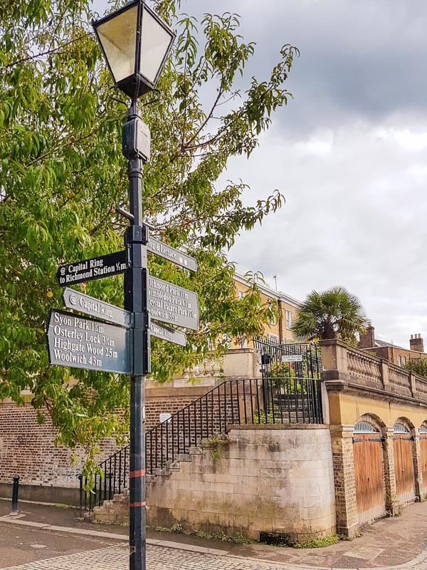 Street corner in Richmond UK