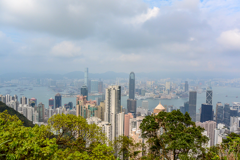 View from the Peak in Hong Kong