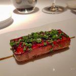 Glazed Fois Gras over puff pastry - Cinq Sensitis, Barcelona