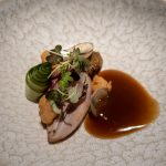 Uncle William's Quail 2 Ways, part 1 (breast chinese rose wine sauce & pearl onion) -- Labyrinth, Singapore