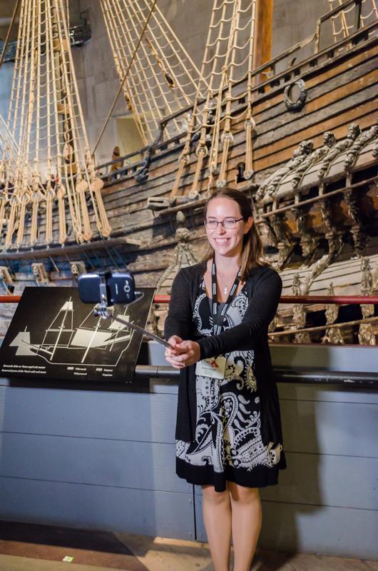 Jess in Vasa museum Stockholm