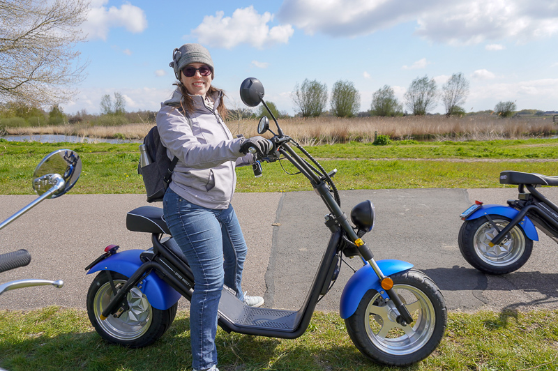 Jessica on scooter