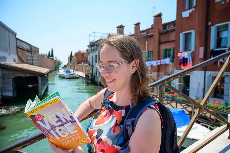 Jessica on Venice canal