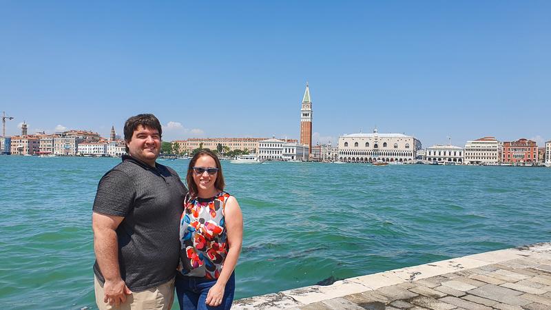 Sean and Jessica at Church of San Giorgio Maggiore