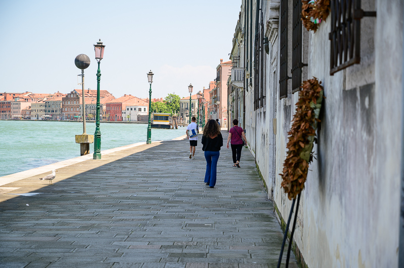 Walking along Giudecca