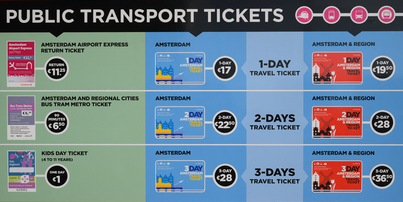 Amsterdam transit ticket at Schiphol airport