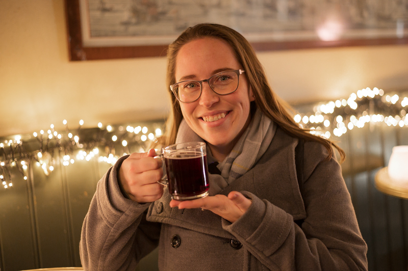 Jessica with Gluhwein
