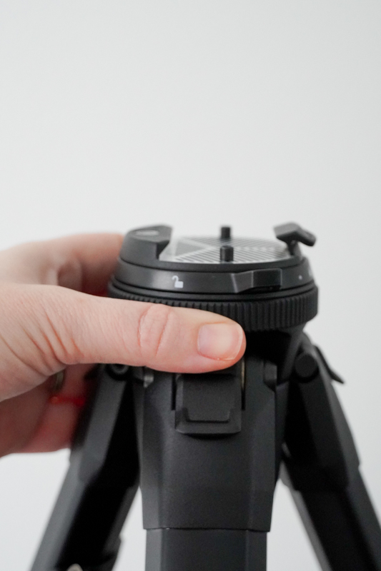 Top of PD tripod with ring grip