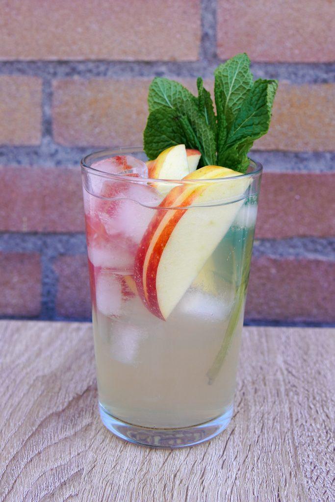 Apple Benton cocktail with Becherovka