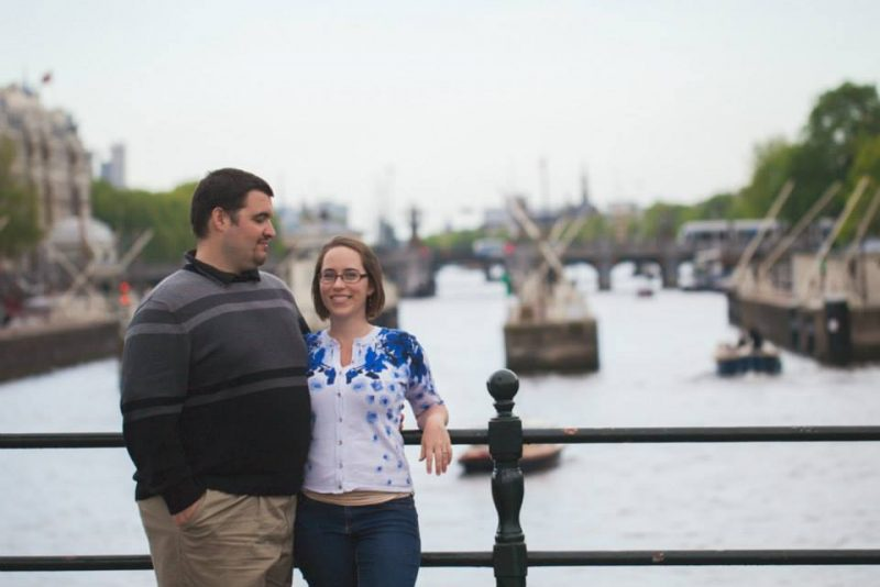Sean and Jess in Amsterdam bridge - Kelvin Wu Photography