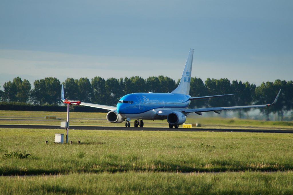 KLM plane at Schiphol