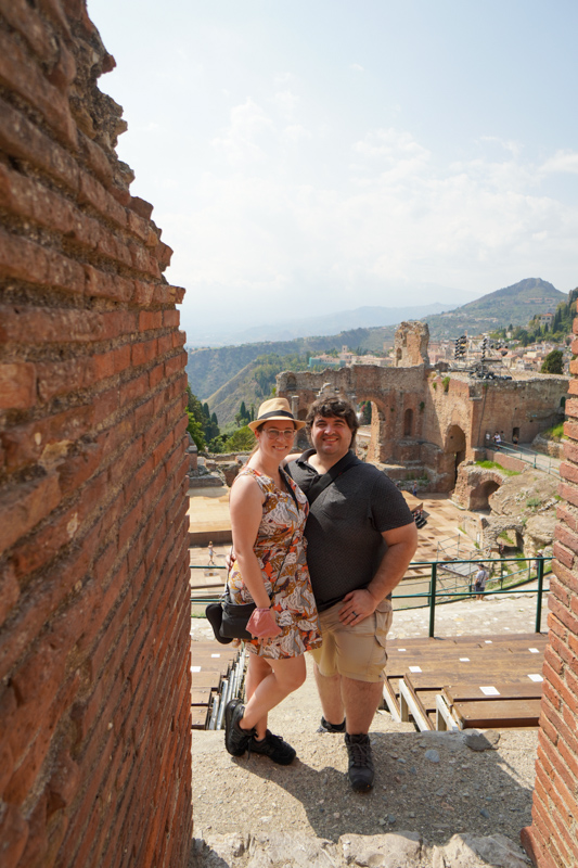Sean and Jessica in Taormina Theatre