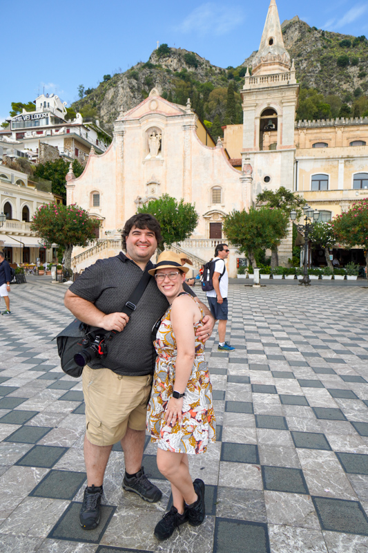 Sean and Jessica in Taormina