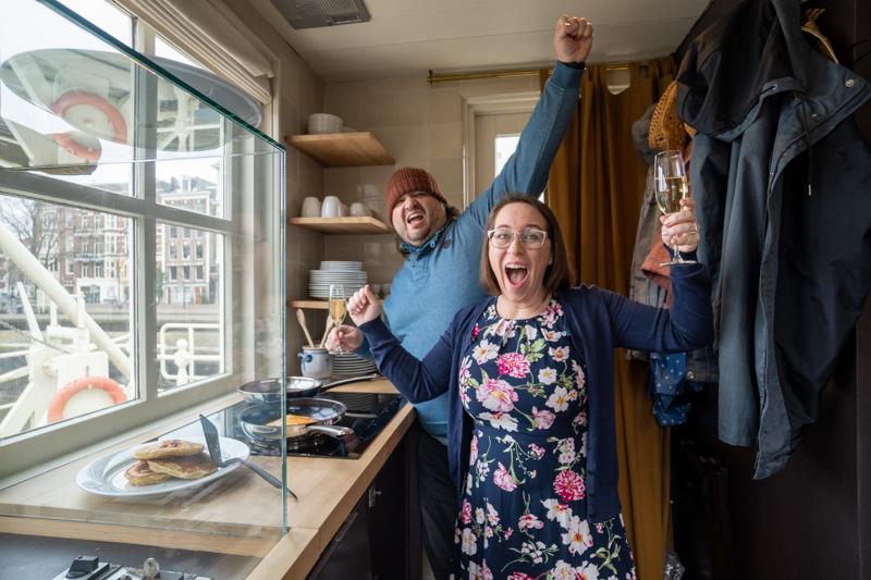Sean and Jess anniversary lockhouse kitchen